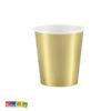 Bicchieri Oro ad Effetto Metallico da 200 ml Conf da 6 pz - Kadosa