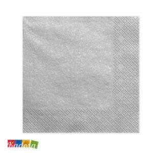 Tovaglioli di Carta Argento ad Effetto Metallico Confezione da 20 pz - Kadosa