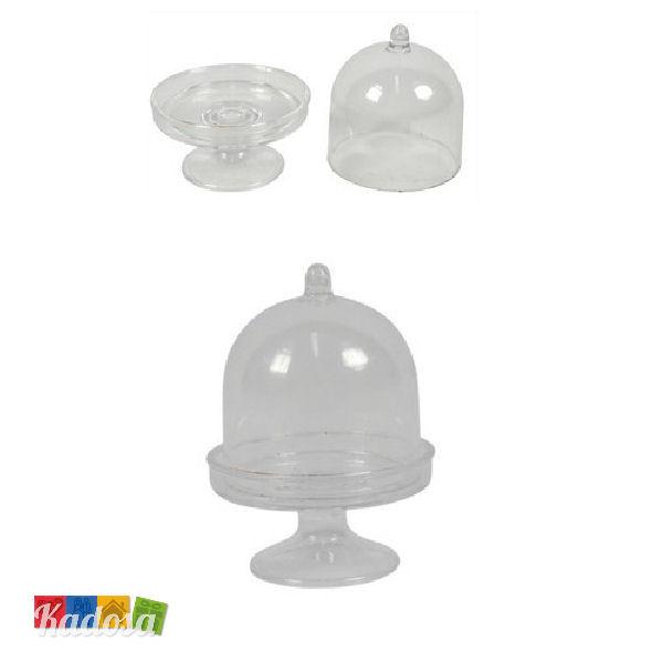 Mini Alzatina con Coperchio Porta Confetti in Plexiglass ...