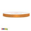 Nastro Satin Arancione Pois bianchi tsk6-005_08_01 - Kadosa
