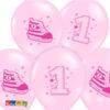 Palloncini 1 Anno Rosa con stampa di una Scarpetta - Kadosa