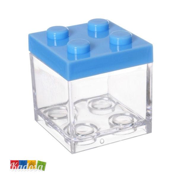Scatola Porta Confetti Mattoncino Lego Azzurro - Kadosa