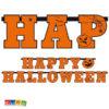 Ghirlanda Happy Halloween in Cartoncino da 2,1 Metri - Kadosa