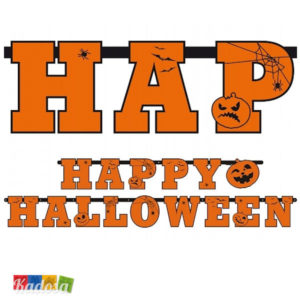 Ghirlanda Happy Halloween in Cartoncino da 2,1 Metri - Kadosa