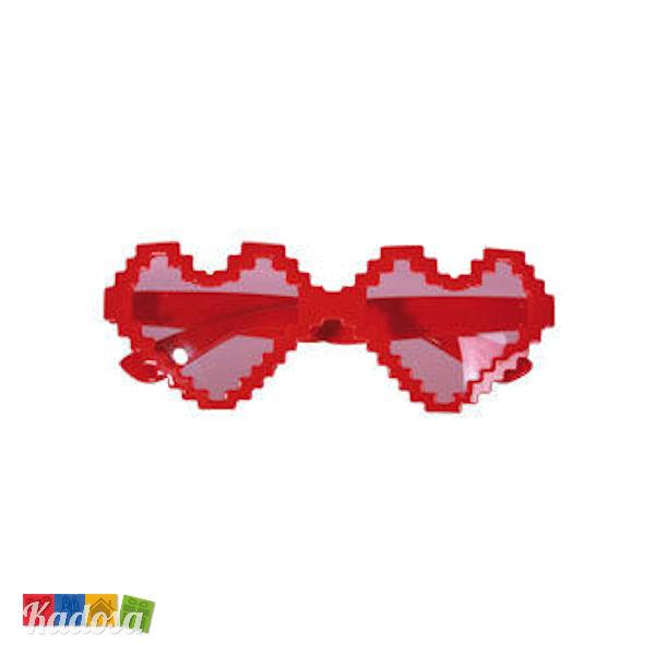 31ea3f539c Occhiali Party CUORE Pixel divertenti e spiritosi - Kadosa