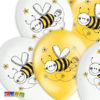 Palloncini Ape Grandi Bianchi e Gialli con Stampa di Qualità Set 6 pz - Kadosa