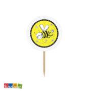 Topper Ape Ideali per Cupcake, Muffin, Tramezzini Set 6 pz - Kadosa