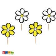 Topper Fiori Ape Ideali per Cupcake, Muffin, Tramezzini Set 6 pz - Kadosa