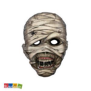 Maschera Mummia Halloween in Cartoncino con Elastico - Kadosa