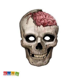 Maschera Teschio Halloween in Cartoncino con Elastico - Kadosa