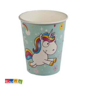 Bicchieri Unicorno Tiffany in Carta Set da 6 pz - Kadosa