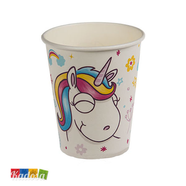 Bicchieri Unicorno Bianchi in Carta Set da 6 pz - Kadosa