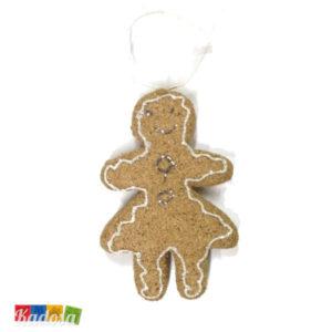 Biscotti OMINO PAN DI ZENZERO GIRL Natural per Albero di Natale - Kadosa