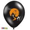 Palloncini Halloween Neri con Fantasmini e Casa Stregata 6 pz - Kadosa