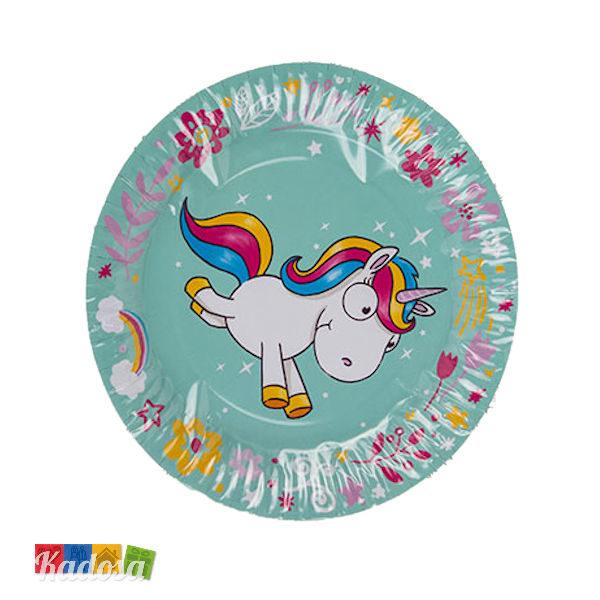Piatti di Carta Unicorno Tiffany Super Trendy ed alla Moda Set 8 pz - Kadosa