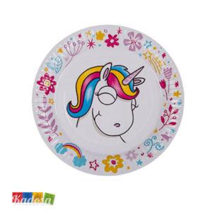 Piatti di Carta Unicorno Bianchi Super Trendy ed alla Moda Set 8 pz - Kadosa