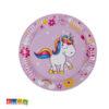 Piatti di Carta Unicorno Lilla Super Trendy ed alla Moda Set 8 pz - Kadosa