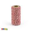 Rotolo Cordino Cotone Bianco Spirale Rossa 50 Mt - Kadosa
