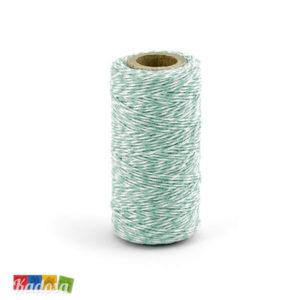 Rotolo Cordino Cotone Bianco Spirale Tiffany 50 Mt - Kadosa