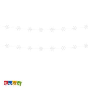 Ghirlanda Fiocchi di Neve Bianchi in Cartoncino Set 2 pz - Kadosa