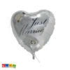 Palloncino CUORE Argento Just Married - Kadosa