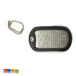 Piastrina Militare Acciaio INOX con Incisione Personalizzata - Kadosa