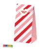 Sacchetti Bomboniera Love con Adesivi a Cuore Set 6 pz - Kadosa