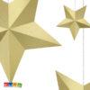 Ghirlanda Stelle 3D Oro con Cordino Abbinato Incluso Set 6 pz - Kadosa