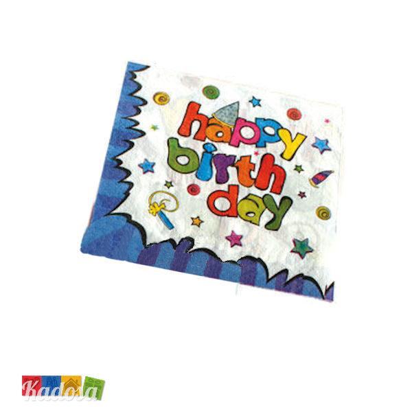 Tovaglioli Happy Birthday Blu - Kadosa