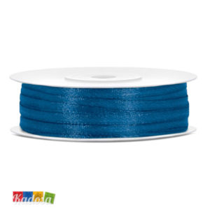 Rotolo Nastro Satin BLU ROYAL H 3 mm X 50 Mt - Kadosa