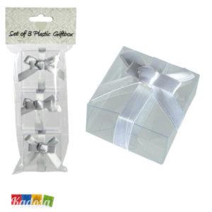 Scatole Porta Confetti Trasparenti con Nastro Satin - Kadosa