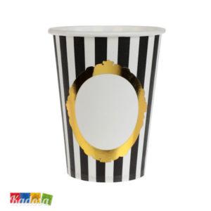 Bicchieri con Decorazione Nera - Kadosa