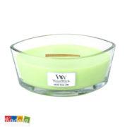 Candela Profumata WOODWICK Hearthwick Green Tea e Lime - Kadosa