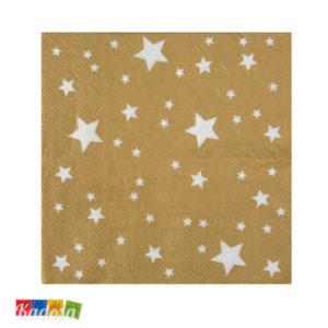 Tovaglioli di carta Oro Stelle Stelline - Kadosa