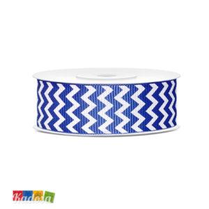 Rotolo Nastro Gross Grain Blu a Righe Bianche - Kadosa