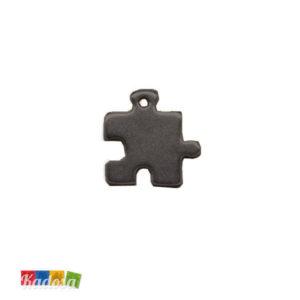 1 Ciondolo Charms Puzzle Gun Metal - kadosa