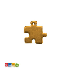 1 Ciondolo Charms Puzzle GOld 20x20mm - kadosa
