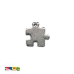 1 Ciondolo Charms Puzzle 20x20mm - kadosa