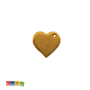 1 Ciondolo Charms Cuore Gold 20x20mm - kados