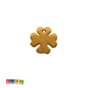 1 Ciondolo Charms Quadrifoglio Gold 20x20mm - kadosa