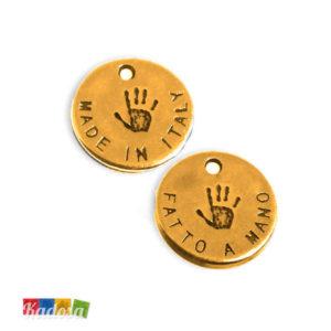 6 Ciondoli Charms Fatto a Mano - Made in Italy 13mm - kadosa