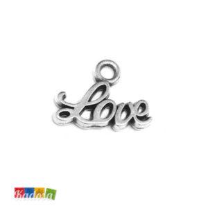 6 Ciondoli Charms Love 12 x 6mm - Kadosa