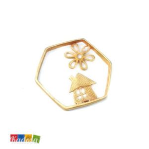 1 Ciondolo Charms Casa Gold 32mm - kadosa