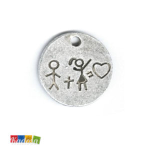 1 Ciondolo Charms Me and You 25mm - kadosa