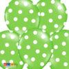 Palloncini Verdi Pois Bianchi - Kaodosa