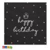 Tovaglioli Happy Birthday Neri - Kadosa