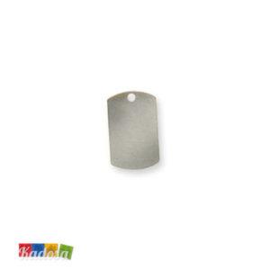 5 Piastrine Charms 15x25mm Col. Silver - kadosa