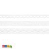 Set 3 Nastri Pizzo Bianchi 100% cotone - 1.5 m - Kadosa