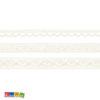 Set 3 Nastri Pizzo Avorio 100% cotone - 1.5 m - Kadosa