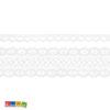 Set 2 Nastri Pizzo Bianchi 100% cotone - 1.5 m - Kadosa
